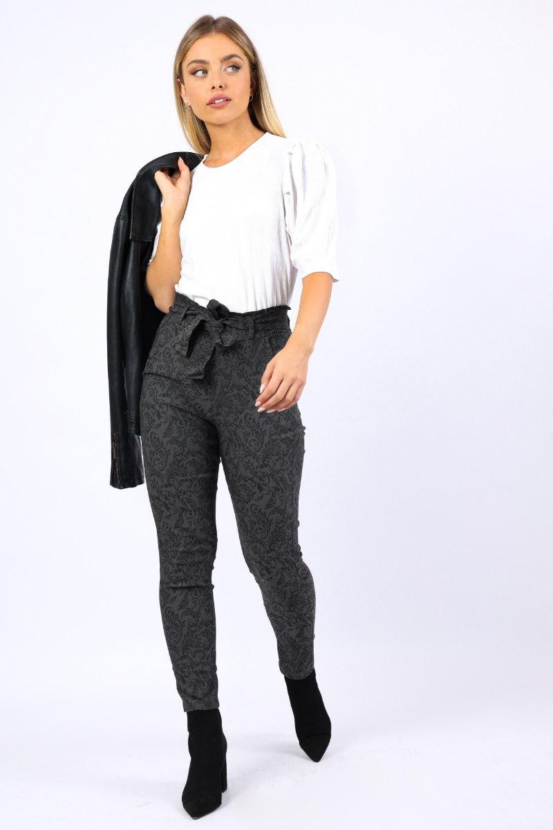 מכנס מייגן מחטב אפור מיוחד