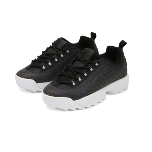 FILA נעלי פילה פלטפורמה צבע שחור סוליה לבנה