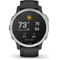שעון דופק Garmin Fenix 6s Pro Solar Silver with Black Band