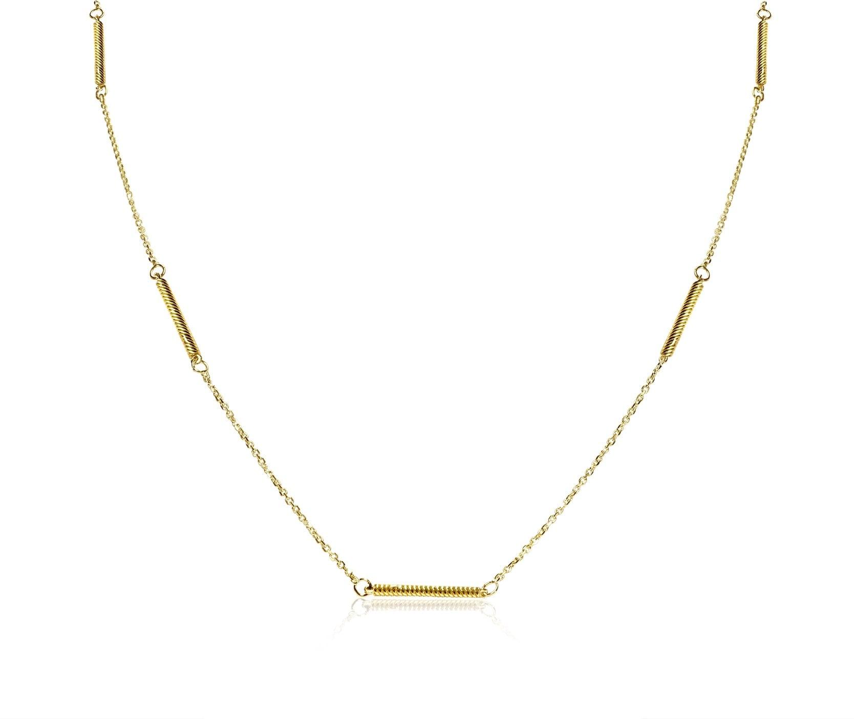 שרשרת זהב מקלות לגבר 14 קאראט
