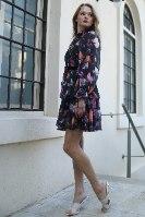שמלת ערב קצרה קומות- שחור