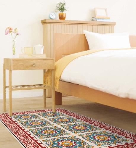 שטיח פי.וי.סי ברצלונה אדום TIVA DESIGN קיים בגדלים שונים