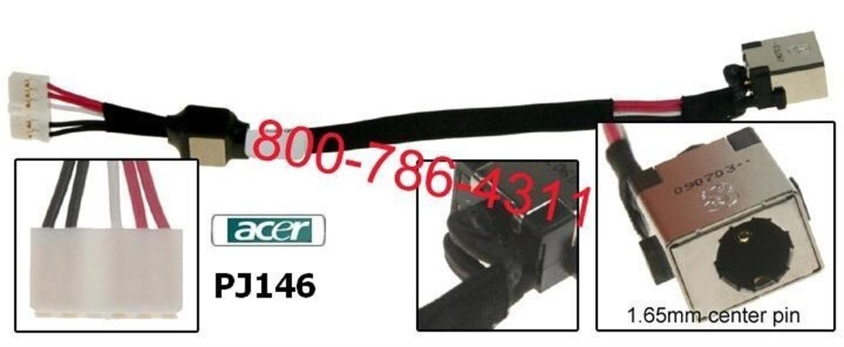 PJ146 - Acer Aspire 5530 , 5534 , 5538 Dc Jack החלפת / תיקון שקע טעינה למחשב נייד אייסר
