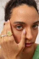 טבעת X חותם כסף