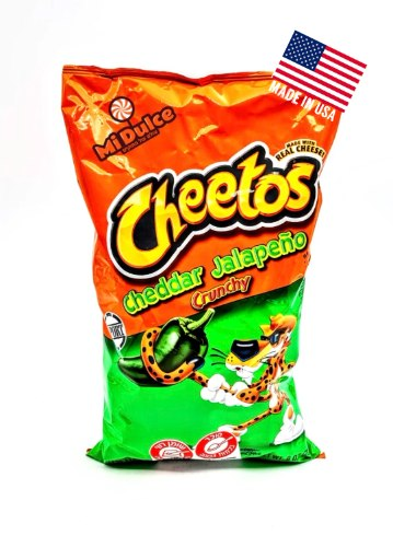Cheetos Cheddar jalapeño אמריקאי,מארז ענק!