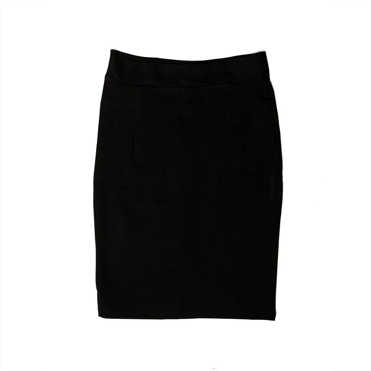 חצאית ג'רסי נשים שחורה