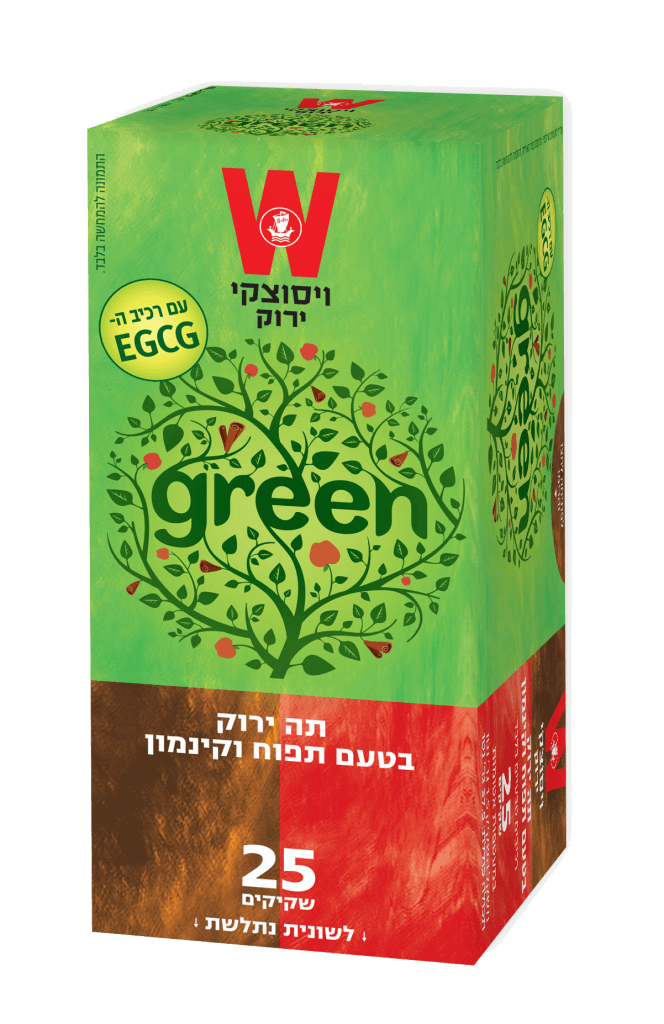 תה ירוק בטעם תפוח וקינמון
