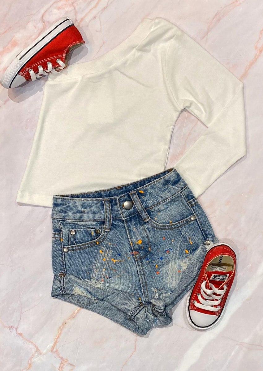 שורט ג'ינס שפריצים