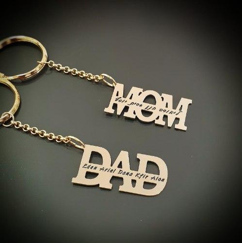 מחזיק מפתחות DAD/MOM