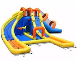 9045-מתקן קפיצה ומים מיני פארק מים הפי הופ-Mini Water Park Happy Hop מגיע עם סולם טיפוס-קפיץ קפוץ