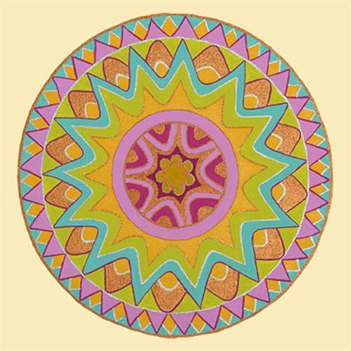 """מגנט אומנותי - """"מנדלת הזהב"""" - מנדלה מקורית בעבודת יד מודפסת על מגנט"""