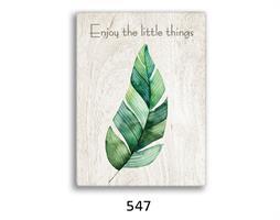 סט של 4 תמונות השראה מעוצבות לתינוקות, לסלון, חדר שינה, מטבח, ילדים - תמונות השראה עלים 55