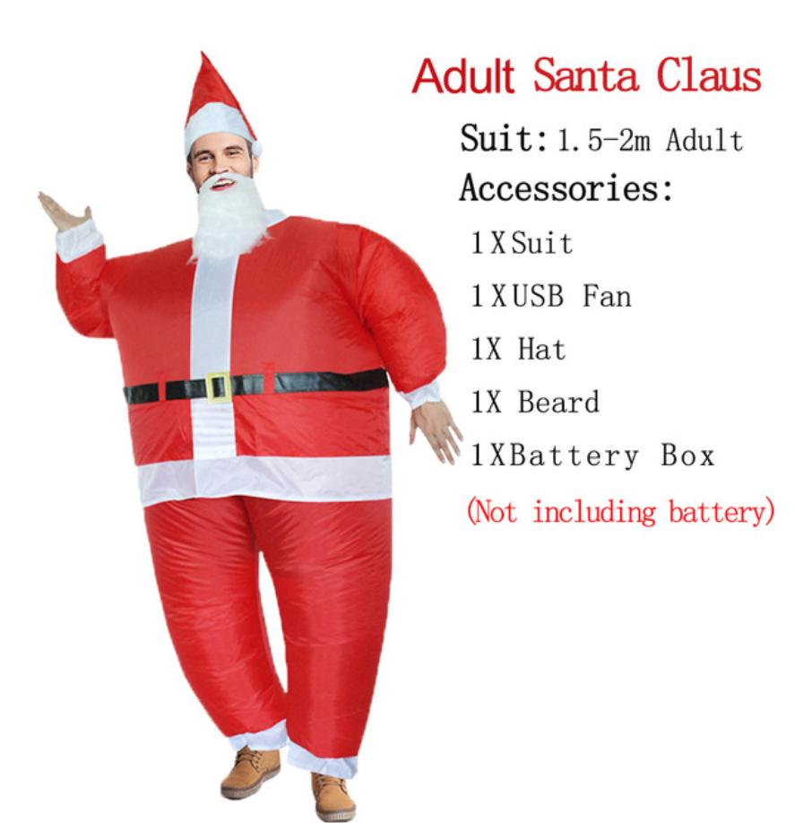 תחפושת מתנפחת - דגם סנטה קלאוס