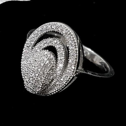 טבעת כסף משובצת זרקונים RG1468 | תכשיטי כסף | טבעות כסף