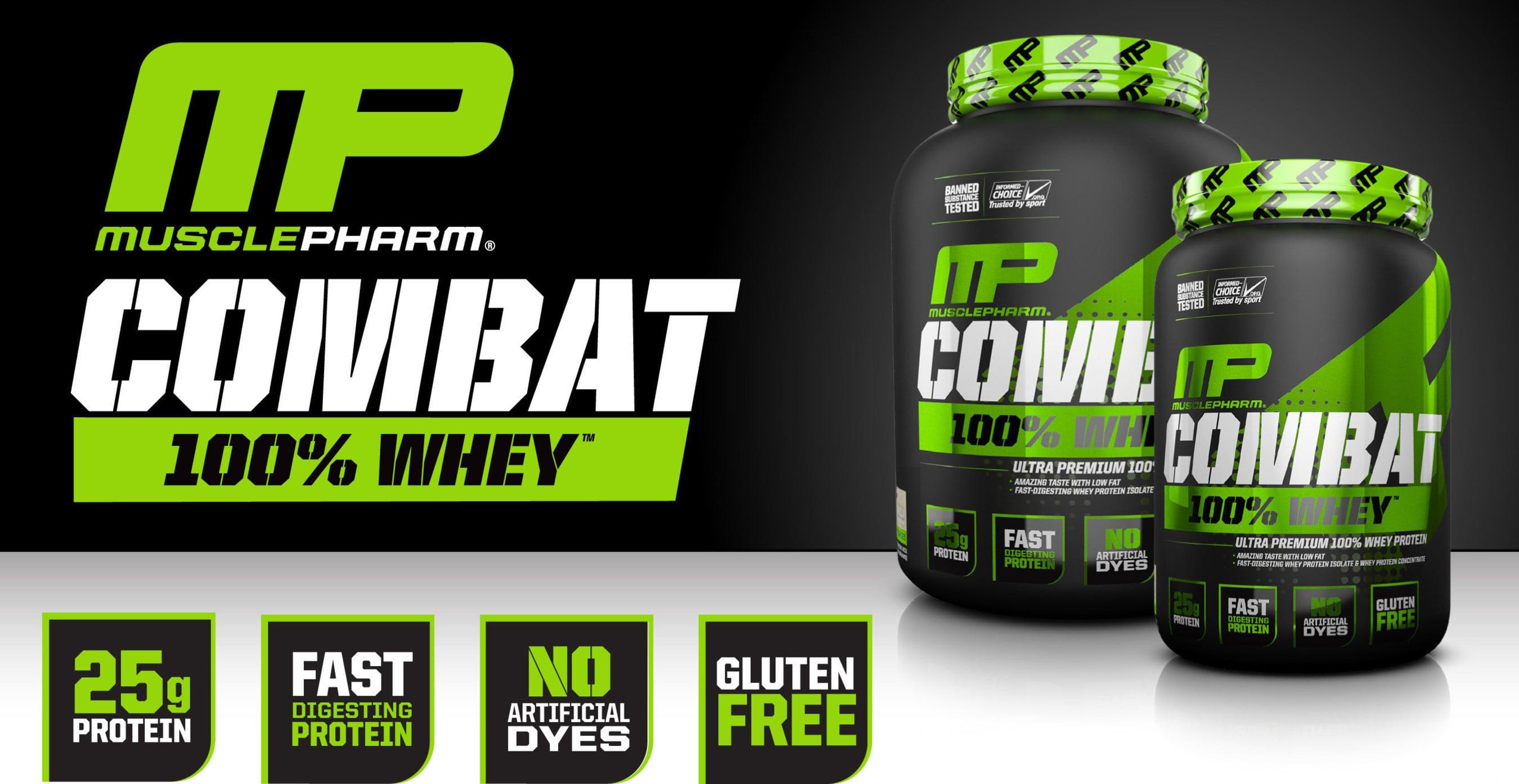 100% אבקת חלבון מאסל פארם קומבט   Combat 100% Whey במבצע זוגי