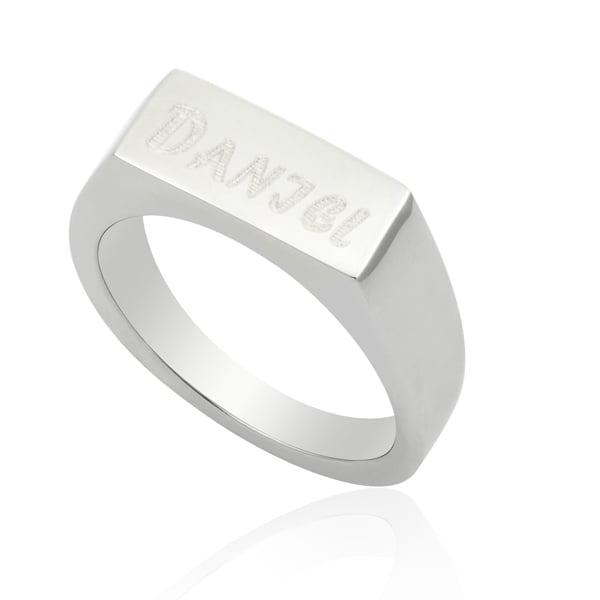 טבעת חותם מלבנית