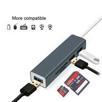 מתאם Type C תחנת עגינה עם חיבורים SD-Micro SD ו 3 יציאות USB3.0