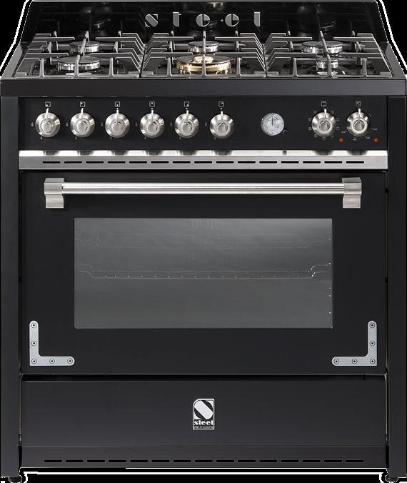 תנור בישול ואפיה משולב Steel דגם OXFORD 90 X9F-6W Nickel