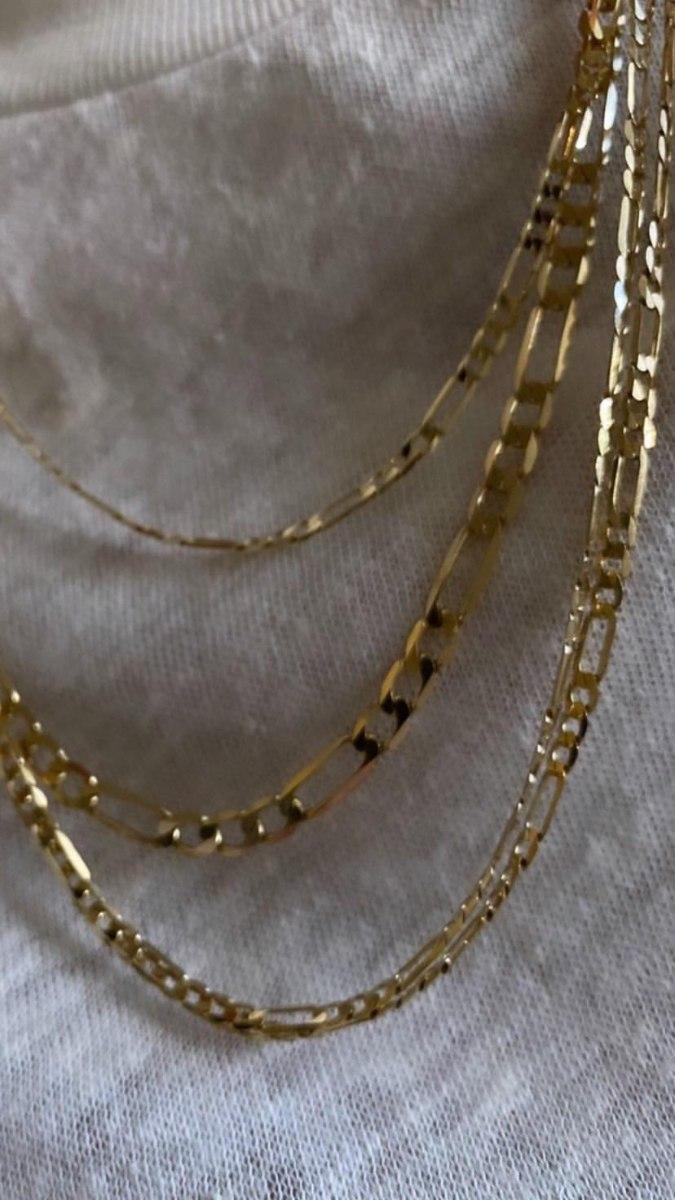 שרשרת פיגרו קצרה זהב 14 קראט XL