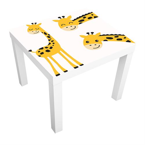 1 יח' טפט דביק מותאם לשולחן (LACK)- ג'ירפות