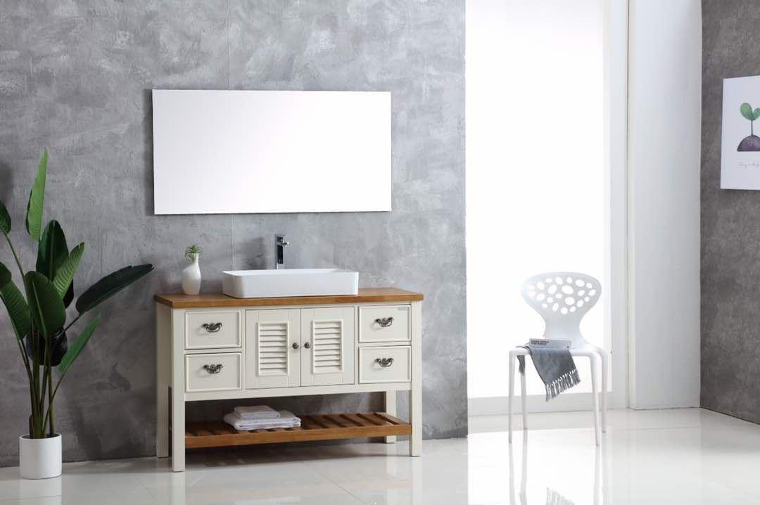 ארון אמבטיה עומד עץ מלא דגם לימה LIMA