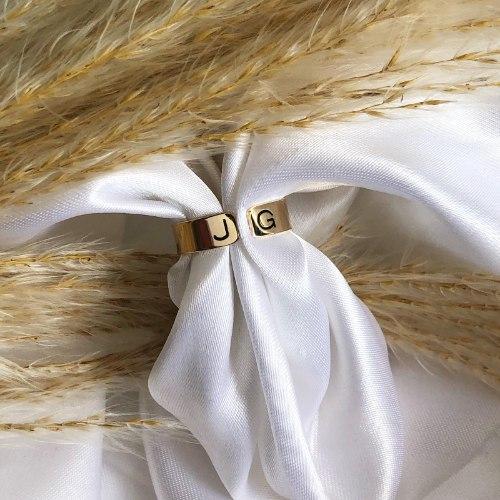 טבעת פס פתוחה עבה גולדפילד