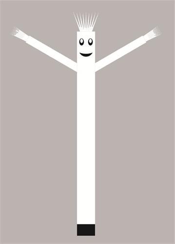 בובת דנסר רוקדת בגובה 6 מטר - צבע לבן