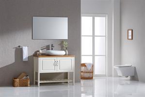 ארון אמבטיה עומד עץ מלא דגם מרינה MARINA