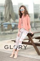 מכנס דפוס פרחים GLORY