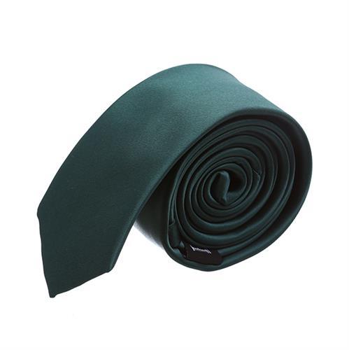 עניבה חלקה ירוק בקבוק