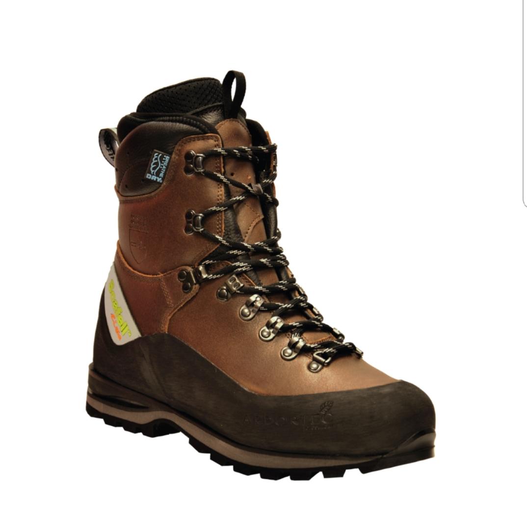 נעלי בטיחות מוגנות חיתוך Arbortec חום