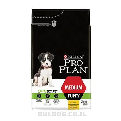 """מזון לכלבים גורים מגזע בינוני פרו פלאן 12 ק""""ג"""