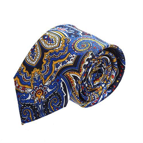 עניבה פייזלי כחול צבעוני