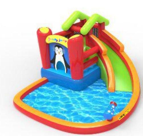 מתקן קפיצה מתנפח רטוב עם מים פינגווין רטוב - W3730 מבית Jumpy Jump העולמית -קפיץ קפוץ