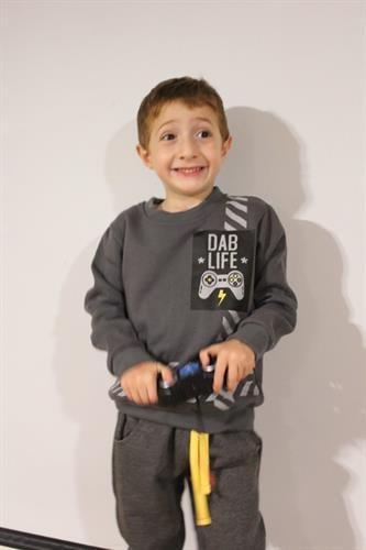 חליפת פוטר לילד -DABLIFE פלייסטיישן - מידות 2,4,6,8