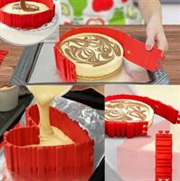 סט בעל 4 חלקי סיליקון לעיצוב העוגה