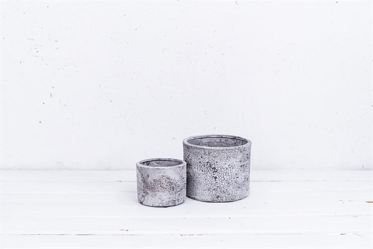זוג כדי חרס בטון - שוליים ישרים