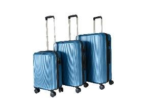 סט 3 מזוודות איכותיות SWISS ALPS - צבע כחול