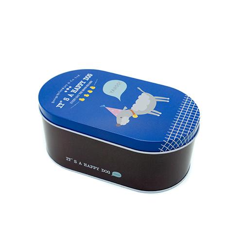 קופסת אחסון it's a happy dog כחול וחום