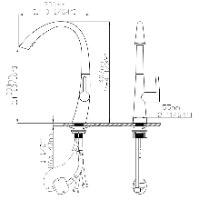 ברז מטבח שניידר נירוסטה נשלף דגם SCH-1006