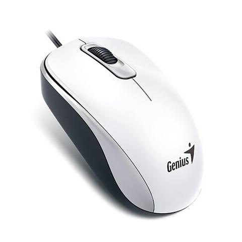 עכבר למחשב נייד אופטי Genius DX-110 בצבע לבן