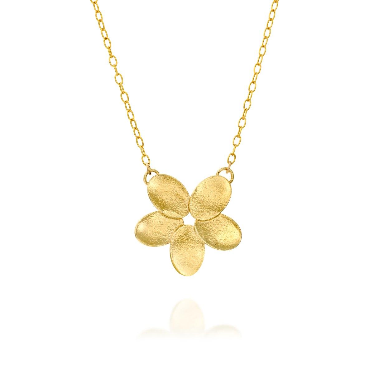 שרשרת גולדפילד תליון פרח גדול מצופה זהב נועה טריפ noa tripp
