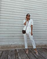 חליפת סט אלזה - לבנה
