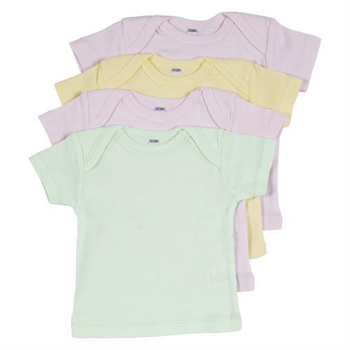 רביעיית חולצות אמריקאיות 2 ורוד בייבי-צהוב-ירוק