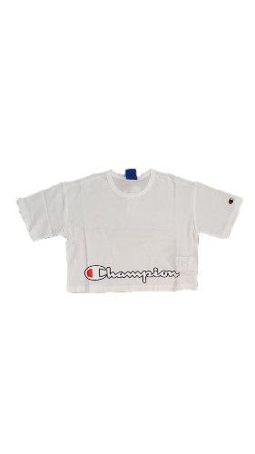 חולצת קרופ בטן לבנה CHAMPION