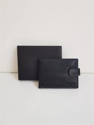 ארנק ביאגיני בינוני שחור עם תיק תק