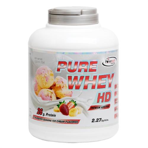-- אבקת חלבון פאוארטק HD בטעם תות בננה-- Pure Whey Hd, מכיל   2.3 קג