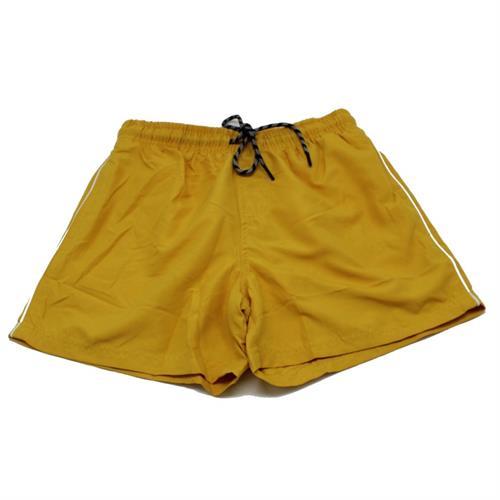 מכנס ים גבר חלק צהוב