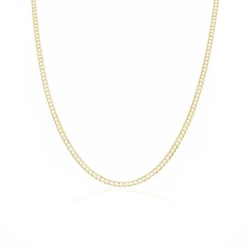 שרשרת חוליות דגם CURB │ שרשרת זהב 14 קאראט │ שרשרת חוליות מזהב │ 2.3 ממ │ 65 סמ