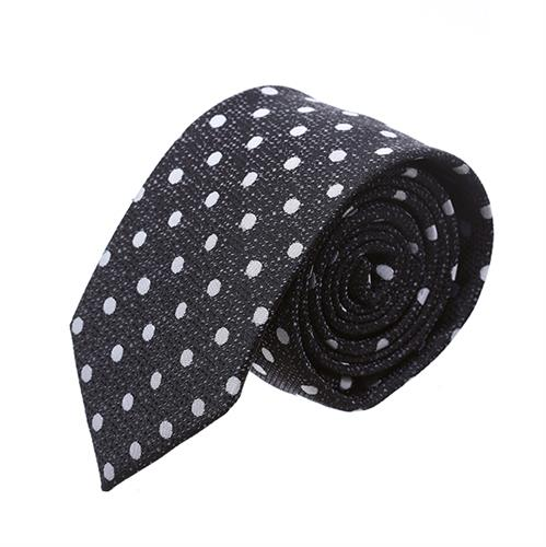עניבה מנוקדת שחור לבן
